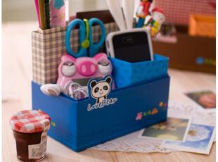 默默爱♥可爱熊猫与猫 纸质DIY桌面收纳盒 韩国桌面整理盒储物盒,DIY,