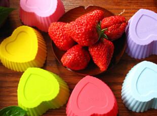 硅胶蛋糕模具爱心形果冻布丁模具巧克力模具手工皂模具马芬杯批发,DIY,