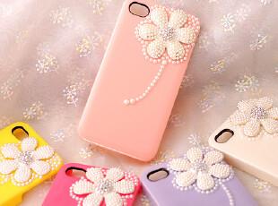 韩国Biaze iphone4s水钻手机壳 苹果4s手机套DIY雏菊壳珍珠保护壳,DIY,