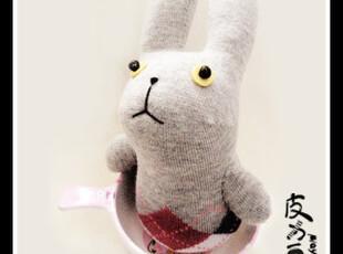 新年礼物 凤凰儿手工DIY皮力豆袜子娃娃材料包英伦兔 装饰品,DIY,