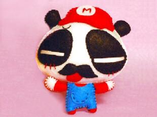 布布熊的梦想 不织布材料包 手工DIY  无知熊猫超级玛丽玩偶,DIY,