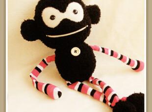 不织布 DIY!凤凰儿手工DIY皮力豆袜子娃娃材料包皮皮猴,DIY,