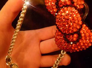特价简单清新的大红蝴蝶结iphone壳diy材料包、贴钻成品壳可定制,DIY,