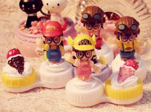 新品手工DIY可爱奶油蛋糕阿拉蕾隐形伴侣盒 美瞳双联盒 护理盒,DIY,