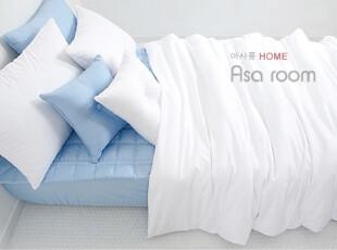 【Asa room】韩国进口床品代购 白色蓝色DIY纯棉被套四件正品c464,DIY,