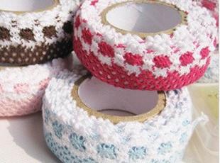 韩国 田园风 双色花边布艺蕾丝diy装饰胶条|胶带|胶布 相片角贴,DIY,