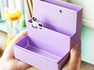 韩国文具 可爱 桌面 DIY笔筒 抽屉收纳盒三件套 整理盒子 杂物盒,DIY,