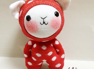 手客岛 原创手工玩偶 摩卡猫 DIY袜子娃娃材料包,DIY,
