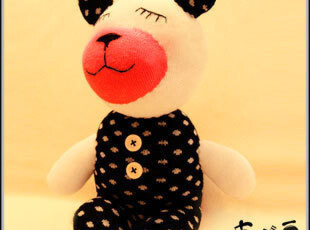新年礼物!DIY手工袜子娃娃材料包情人节礼物超萌小睡熊,DIY,