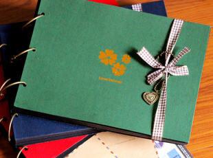 韩国diy手工粘贴相册 大本超厚牛皮纸影集自粘式相册丝带款 700克,DIY,