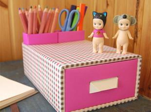 韩国可爱DIY办公桌面文件收纳盒桌上整理盒储物盒笔筒居家收纳,DIY,