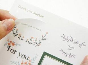 韩国文具 清新素雅 小碎花标签贴纸 DIY日记贴 装饰贴纸 6张入,DIY,