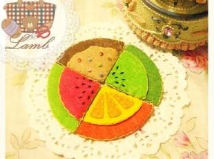 Lamb家●DIY美味水果甜点不织布书签一对材料包,DIY,