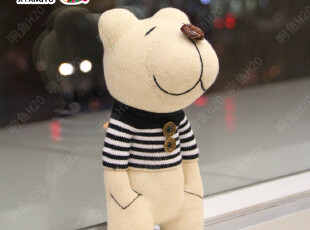 【响鱼】手工袜子娃娃材料包 布艺diy玩偶 毛绒玩具公仔 乐天熊,DIY,