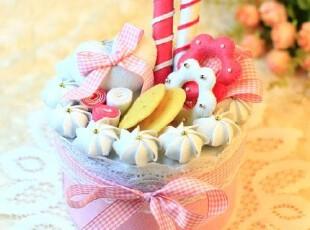迪鸥 不织布材料包 幸福的甜蜜蛋糕置物盒 手工DIY 收纳盒,DIY,