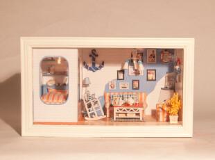 diy小屋 手工模型 悠长假期【爱琴海的幸福小屋】七夕创意礼物,DIY,