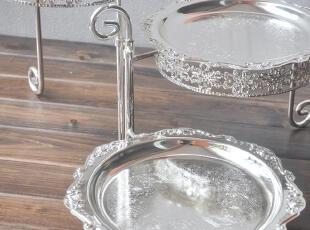欧式宫廷 金属镀银三层蛋糕架/蛋糕盘托盘 创意可旋转 婚庆用具,DIY,