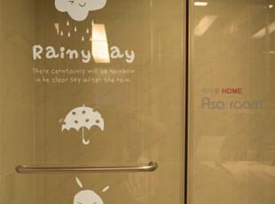 【Asa room】韩国壁贴 创意DIY小雨伞和花朵壁贴 a386,DIY,