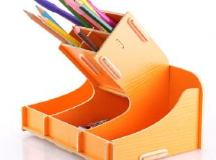 燕鸥办公用品多功能高射炮造型笔筒 时尚DIY创意木质收纳盒1039,DIY,