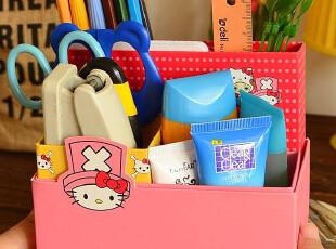 ●乔巴kitty 迷你DIY纸质桌面收纳盒|折叠整理盒-2款选,DIY,