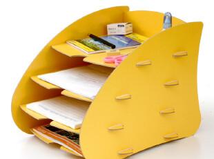 丽珑创意办公文具  DIY木质A4资料架 文件架 桌面杂志收纳架B1002,DIY,