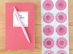 日韩国文具 可爱小清新森系蕾丝装饰贴 DIY透明贴纸 手机贴纸,DIY,