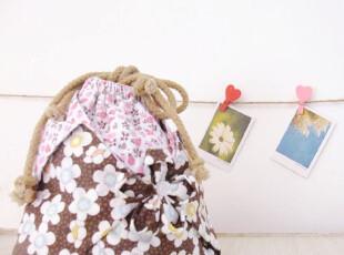 咖啡物语 手工DIY碎花 日式和风樱花锦囊袋 大容量束口袋 拎包,DIY,