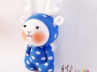 手客岛 原创手工玩偶 龙年吉祥物 生肖龙宝宝 DIY袜子娃娃材料包,DIY,