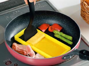 锅铲硅胶框套装 蛋糕鸡蛋卷制作模具 DIY煎蛋器厨房用具烹饪工具,DIY,