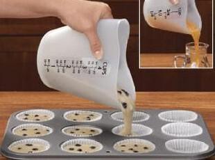 【出口原单】加厚500ml优质硅胶量杯/耐热量杯/烘培软量杯 耐高温,DIY,