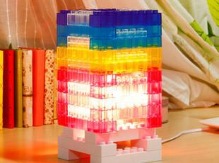 节能创意小夜灯 家用概念装饰积木灯  自由拼装DIY送男友生日礼物,DIY,