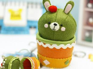 【满39包邮】不织布手工布艺DIY材料包 兔子草盆栽零钱包,DIY,