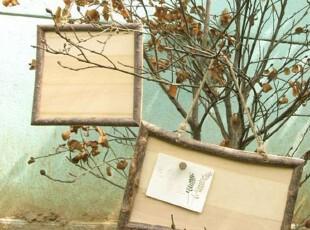 【山鱼良品】实木树枝边饰挂板 创意DIY礼品 壁饰墙饰 留言板 特,DIY,