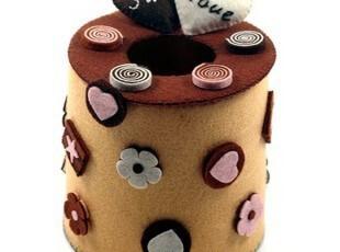 免裁剪 巧克力甜心纸巾筒 不织布DIY材料包,DIY,