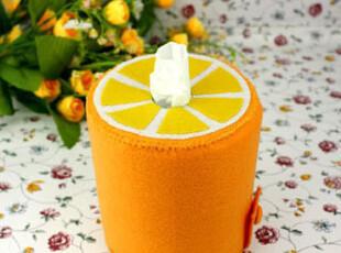 【满39包邮】不织布手工布艺DIY材料包 橙子圆形纸抽盒,DIY,