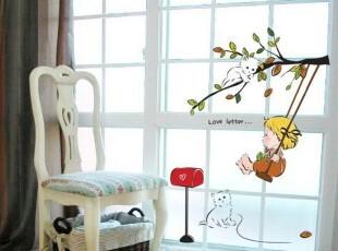 宝宝乐园/韩国进口/DIY即时贴壁贴/卡通儿童房背景墙贴/瓷砖贴,DIY,