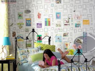 格兰布朗进口壁纸儿童DIY环保纯纸墙纸儿童房卧室背景简约现代,DIY,