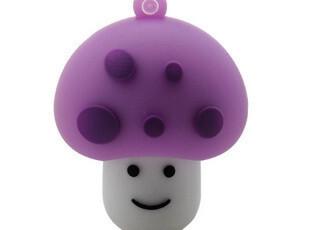 8G创意卡通U盘-可爱萌版蘑菇头 个性可爱的手机挂链 送礼佳品,U盘,