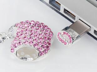 日本直送 施华洛世奇水钻粉色心型8G U盘挂件饰品a,U盘,