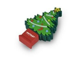 博帝 Patriot 圣诞节限量版 4G U盘 防水优盘 圣诞树造型 正品,U盘,