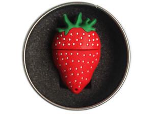 业王 草莓优盘创意 u盘 可爱 卡通 情侣 8g u盘 8g 正品特价 包邮,U盘,