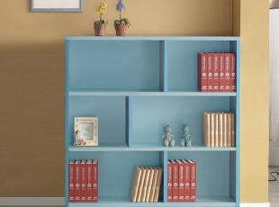 白色宜家实木儿童自由组合书柜书桌书橱书架书柜,书架,
