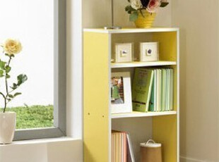 乐思家书柜自由组合储物柜加大三层特价书橱儿童彩柜可加门,书架,