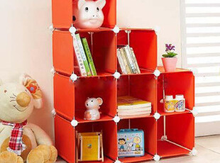 置物架 多功能九格整理柜衣物收纳柜储物柜书柜特价,书架,