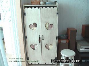 法式 韩式田园家具 实木餐边柜 书柜 鞋柜 地中海家具 昨日乡村,书架,