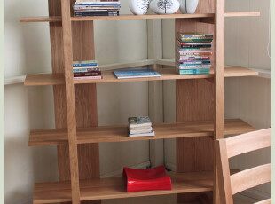 原始原素 白橡木家具 白橡木书架 实木书柜  书橱 展示架  非柞木,书架,
