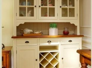 2012地中海田园比邻乡村餐厅书房家具 实木餐边柜 书柜,书架,