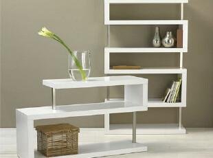 SG59YH现代家具 创意烤漆家具 定做设计 白色亮光烤漆书架书柜,书架,