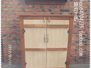 稻花香—乡村做旧风格 实木边柜 鞋柜 书柜 地中海餐边柜 鞋柜,书架,