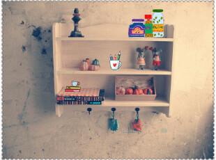 法式田园 地中海风格壁柜 书柜 隔板 白色做旧置物架,书架,